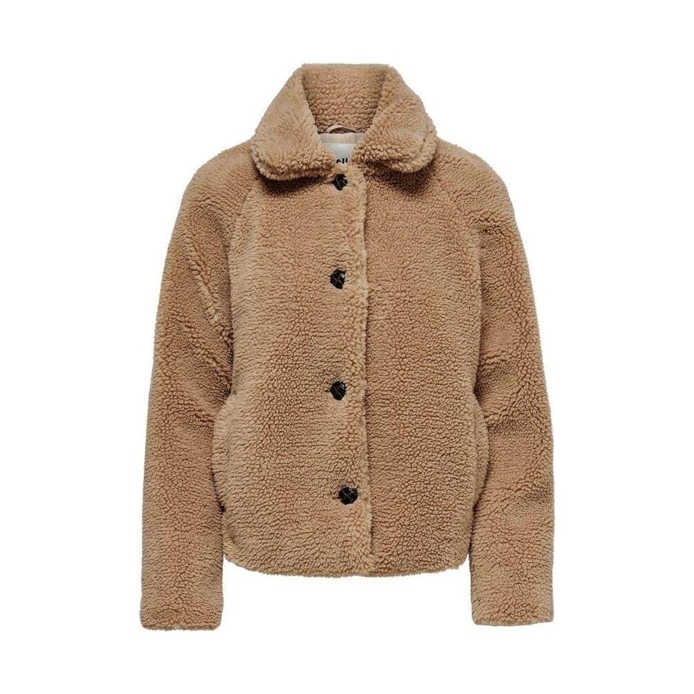 Only Emily Teddy Kadın Bej Kürklü Ceket