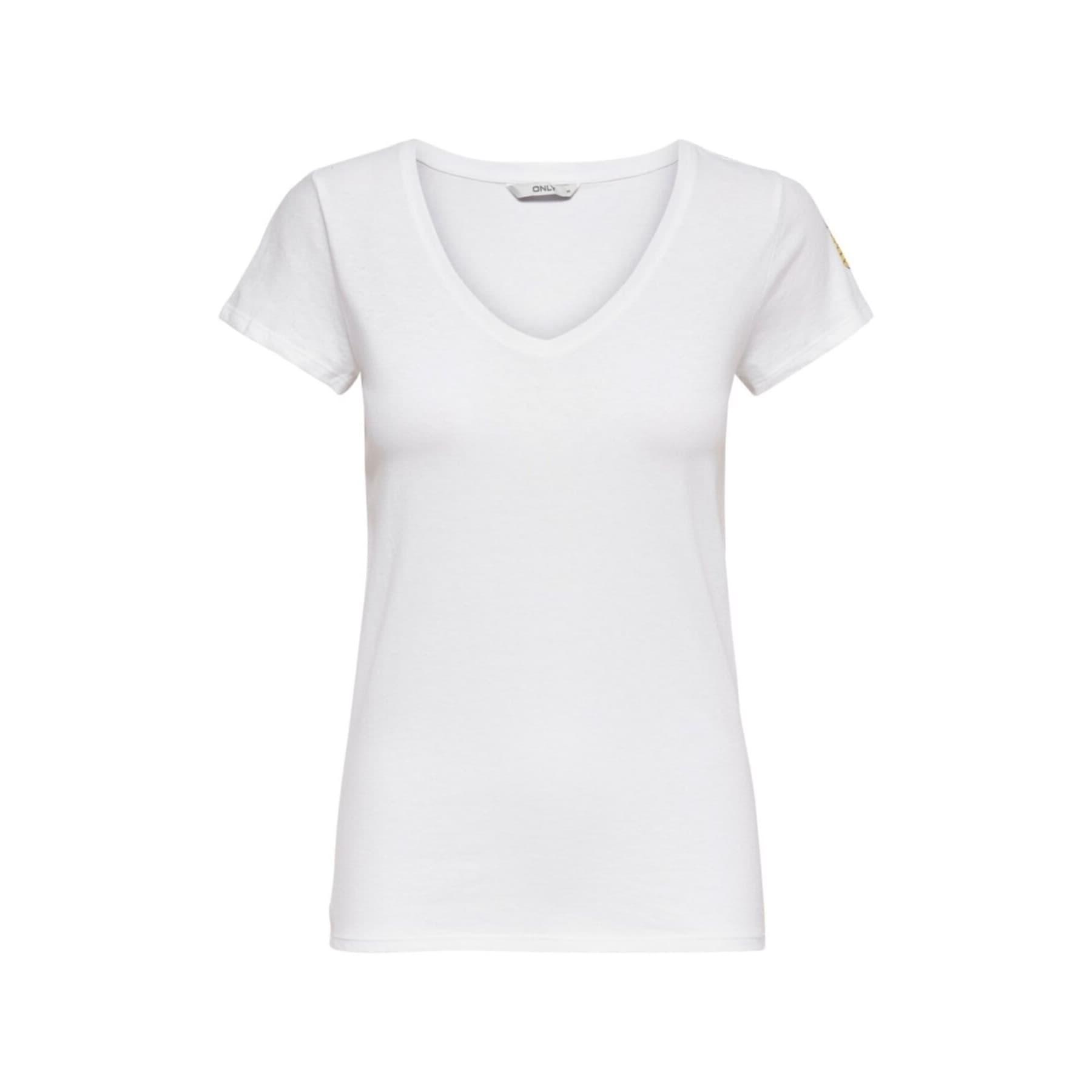 Koop Kiraz Desenli Kadın Beyaz Tişört