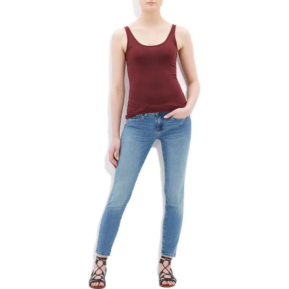 Mavi Jeans Kadın Düz Kırmızı Basic Atlet