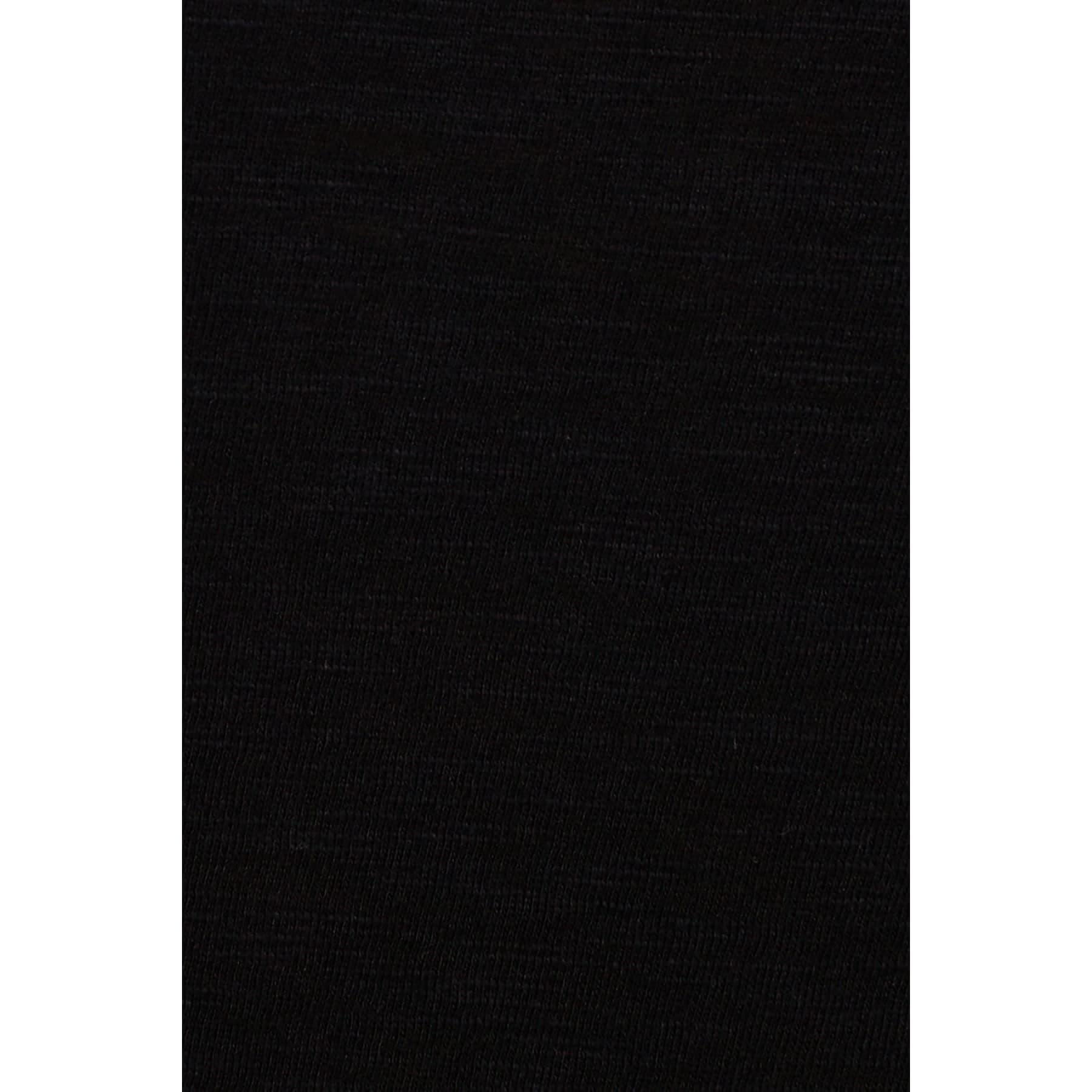Mavi V Yaka Kadın Siyah Basic Tişört (normal kesim)