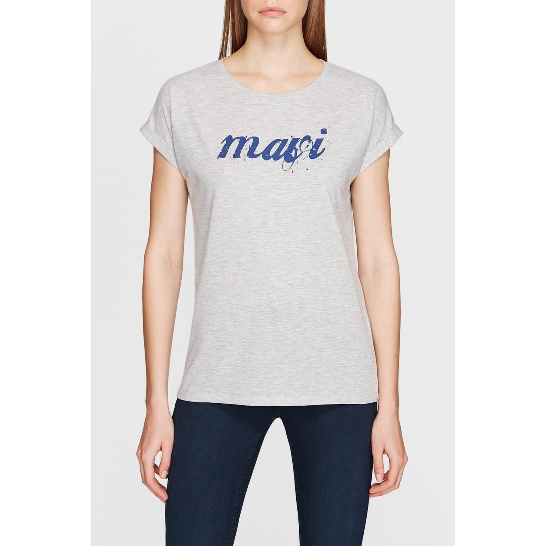 Mavi Logo Istanbul Tisört Gri Melanj
