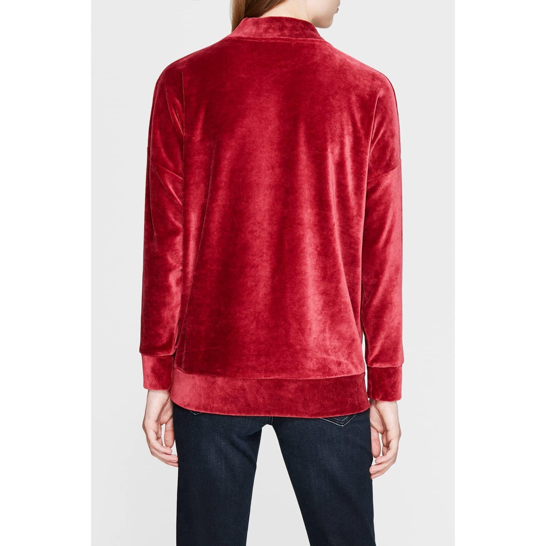 Kadın Kırmızı Kadife Sweatshirt (166490-27126)