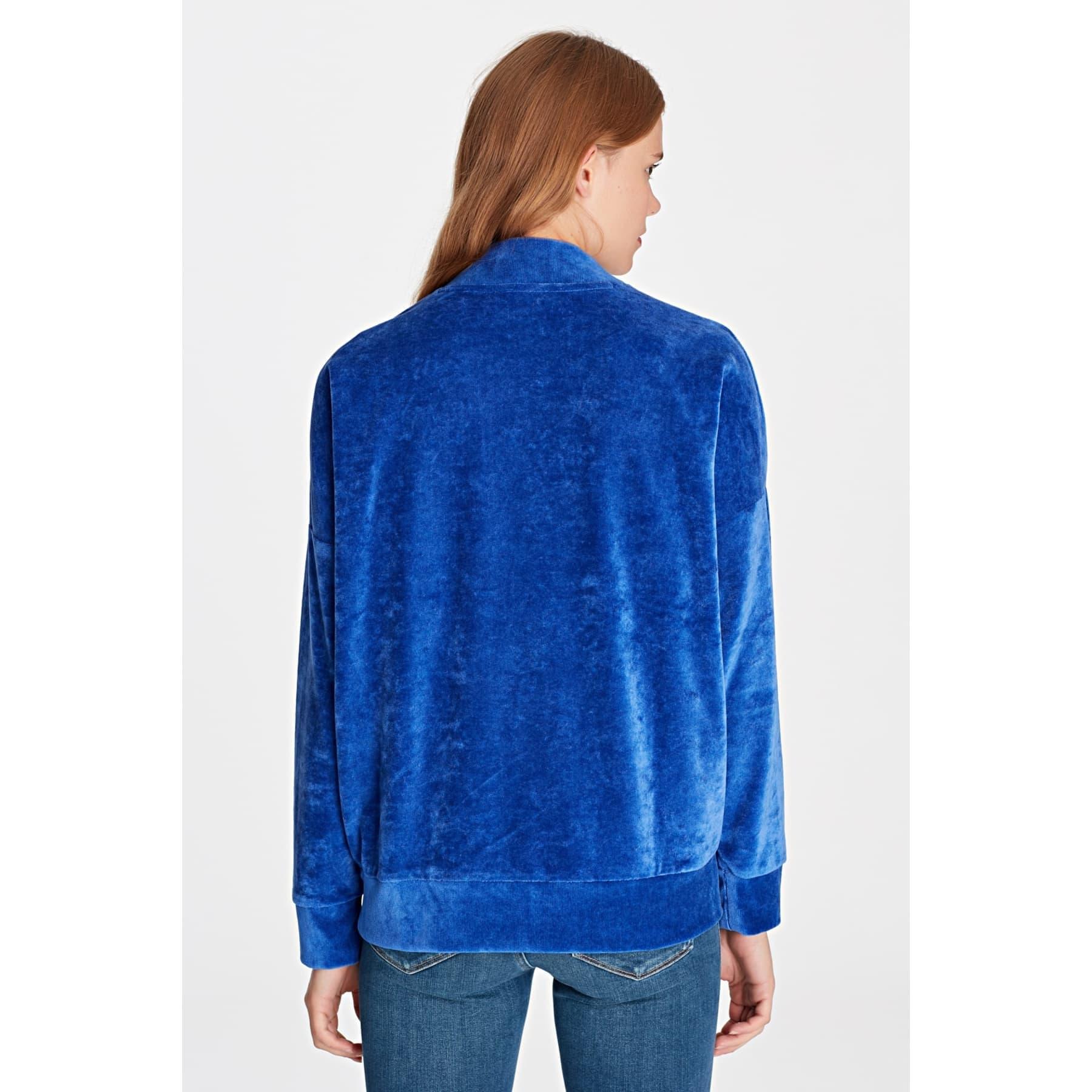 Mavi Jeans Kadife Kadın Lacivert Sweatshirt