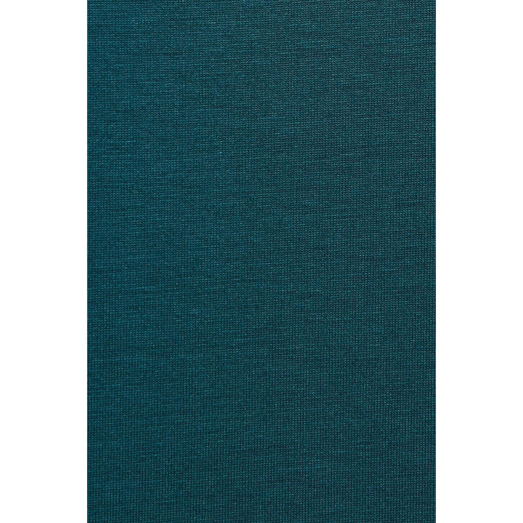 Mavi V Yaka Kadın Çam Yeşili Tişört