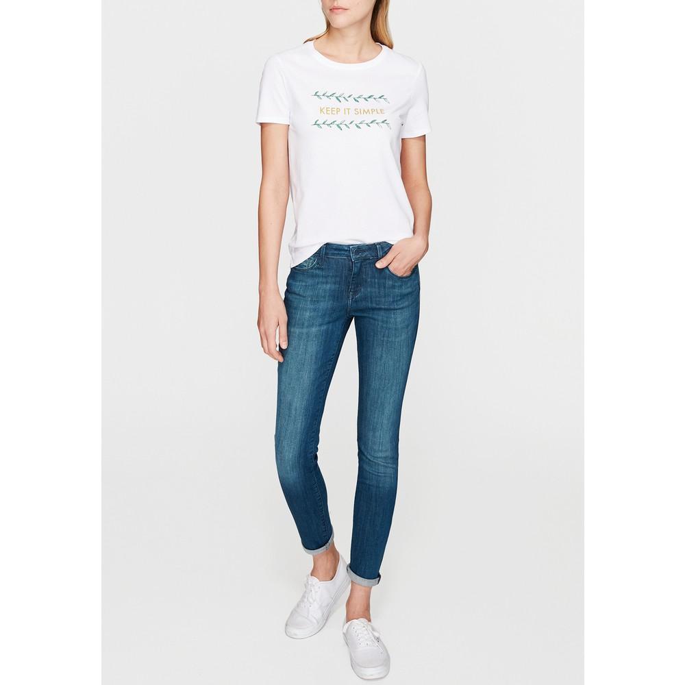 Keep It Simple Baskılı Kadın Beyaz Tişört