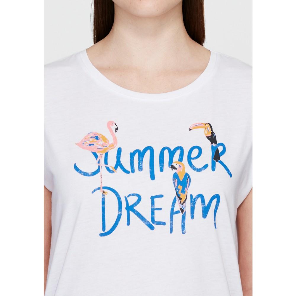 Summer Dream Baskili Penye Beyaz