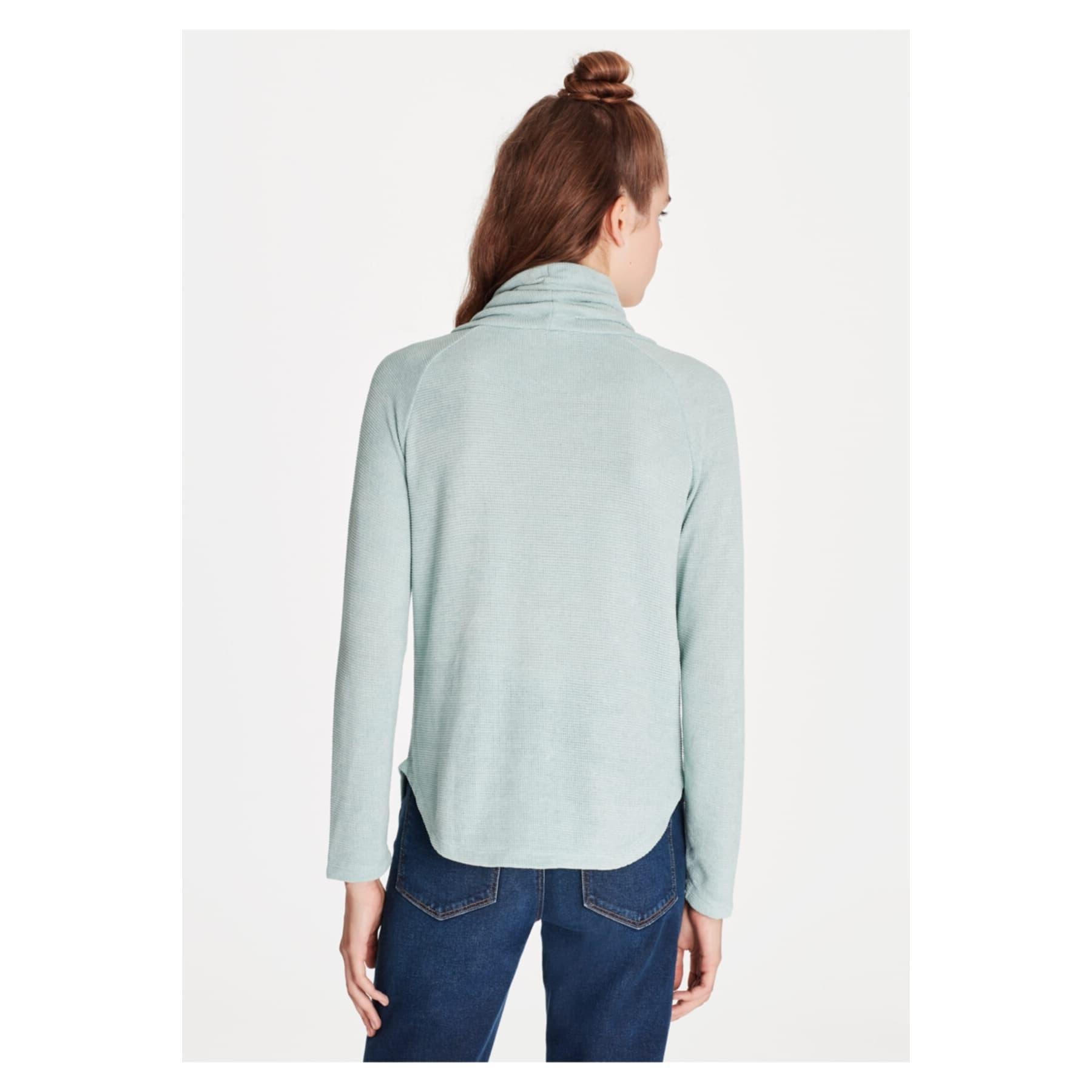 Mavi Jeans Dik Yaka Kadın Yeşil Sweatshirt