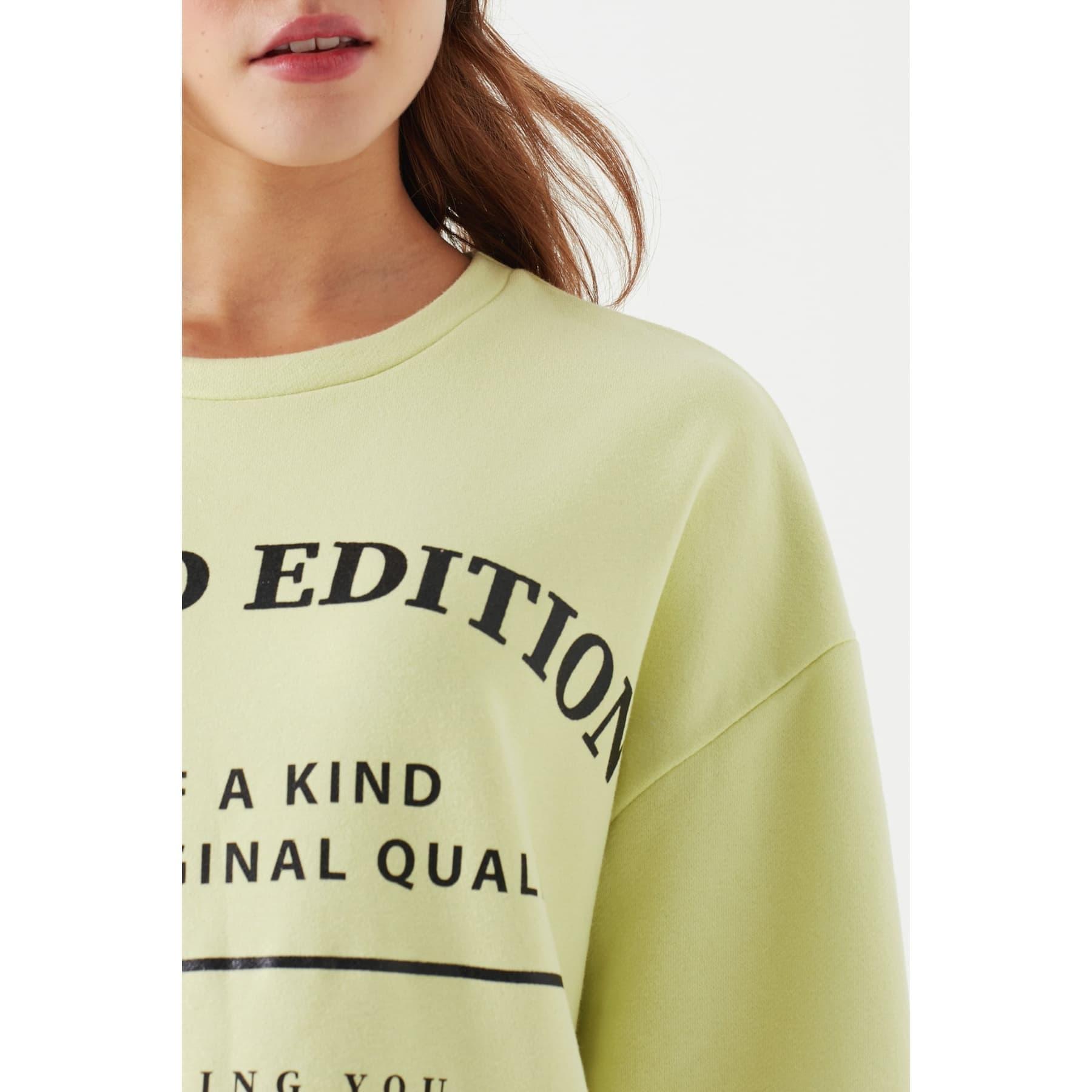 Mavi Limited Edition Baskılı Kadın Yeşil Sweatshirt