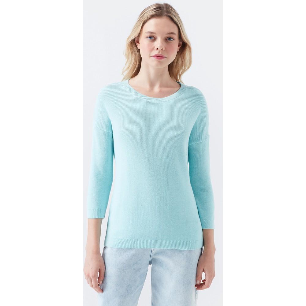 Mavi Jeans Dokulu Kadın Yeşil Kazak