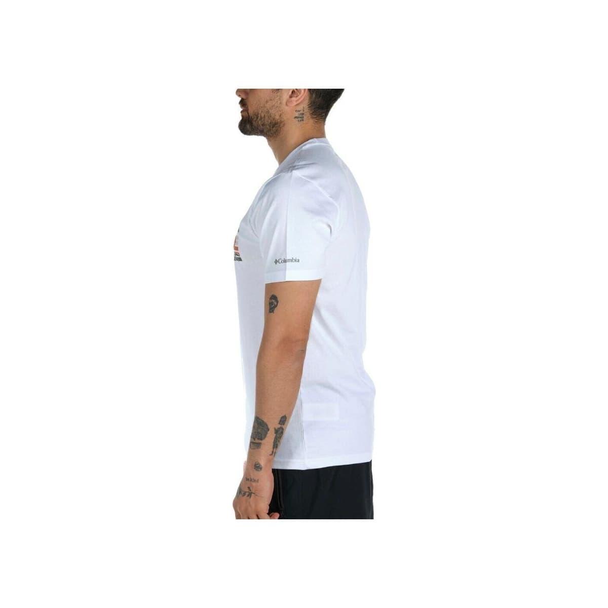 Elevated Outlook Graphic Erkek Beyaz Tişört (CS0132_100)