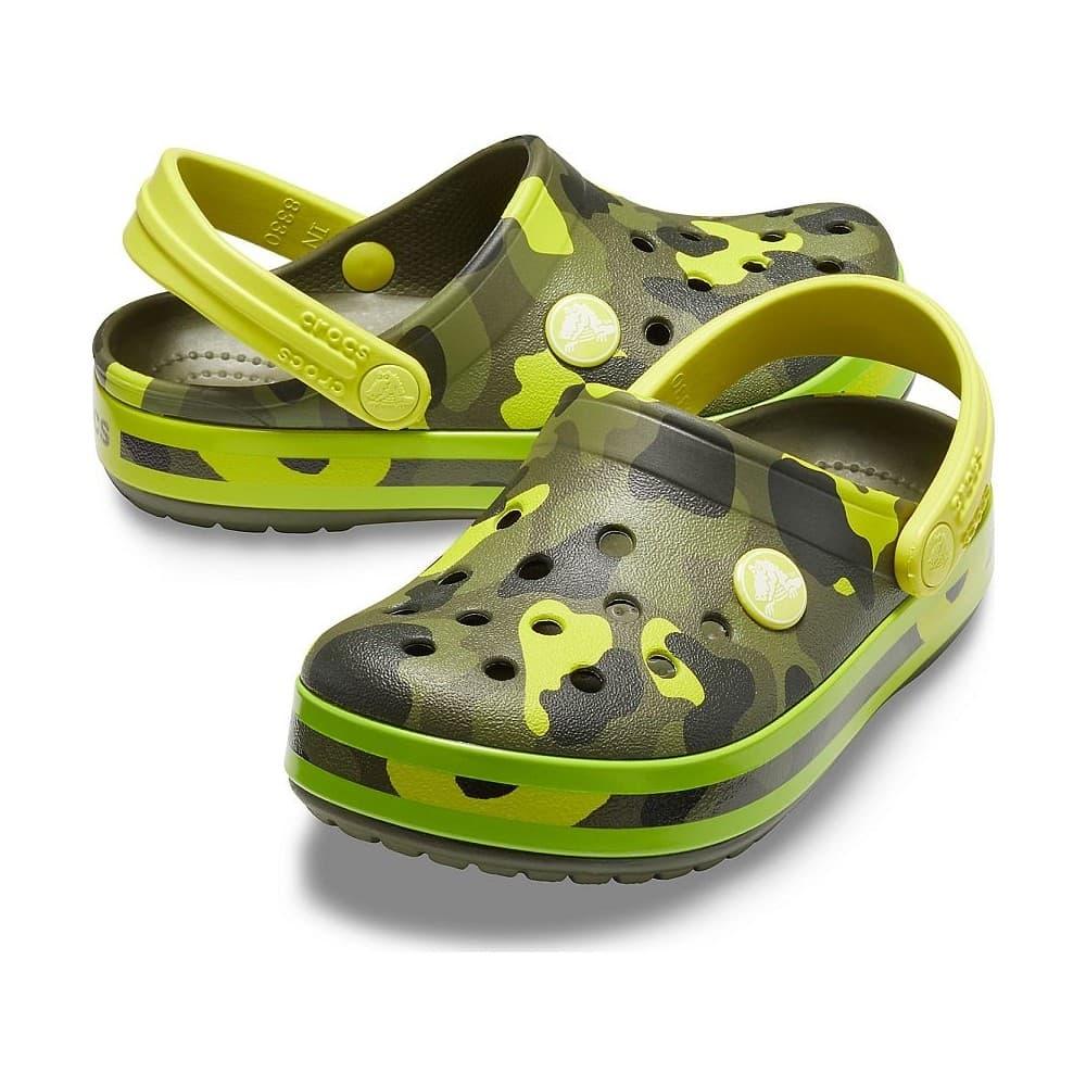 Crocband Multigraphic Clog Çocuk Yeşil Terlik