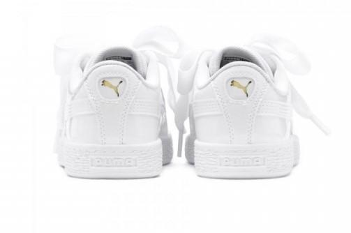 Basket Heart Patent Çocuk Beyaz Spor Ayakkabı