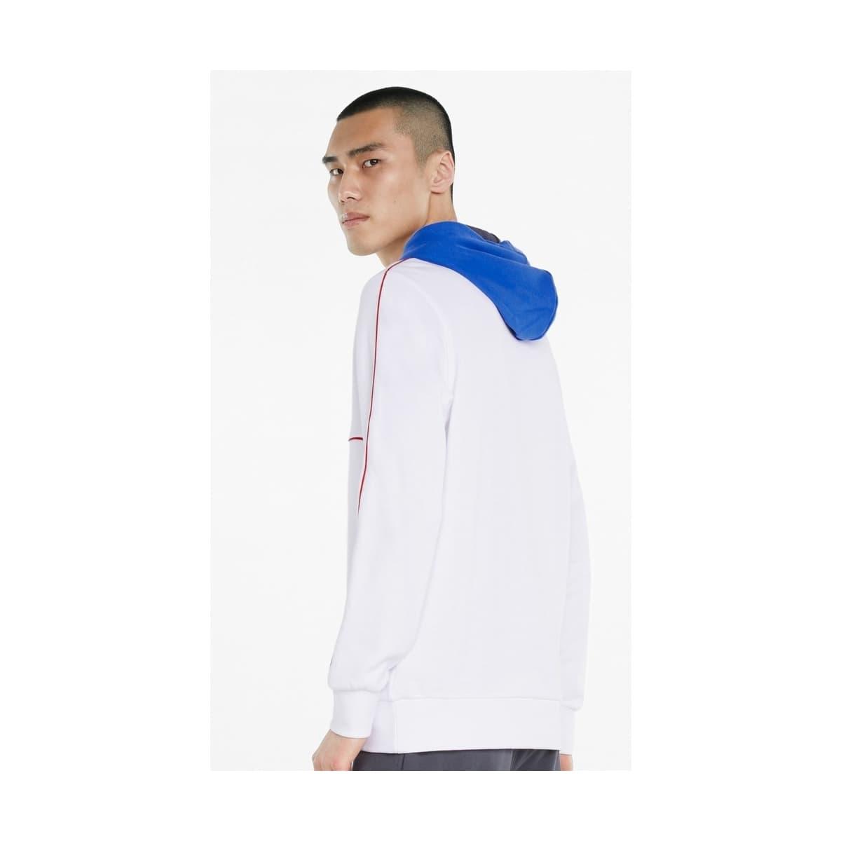 CLSX Piped Erkek Beyaz Kapüşonlu Sweatshirt (531705-02)
