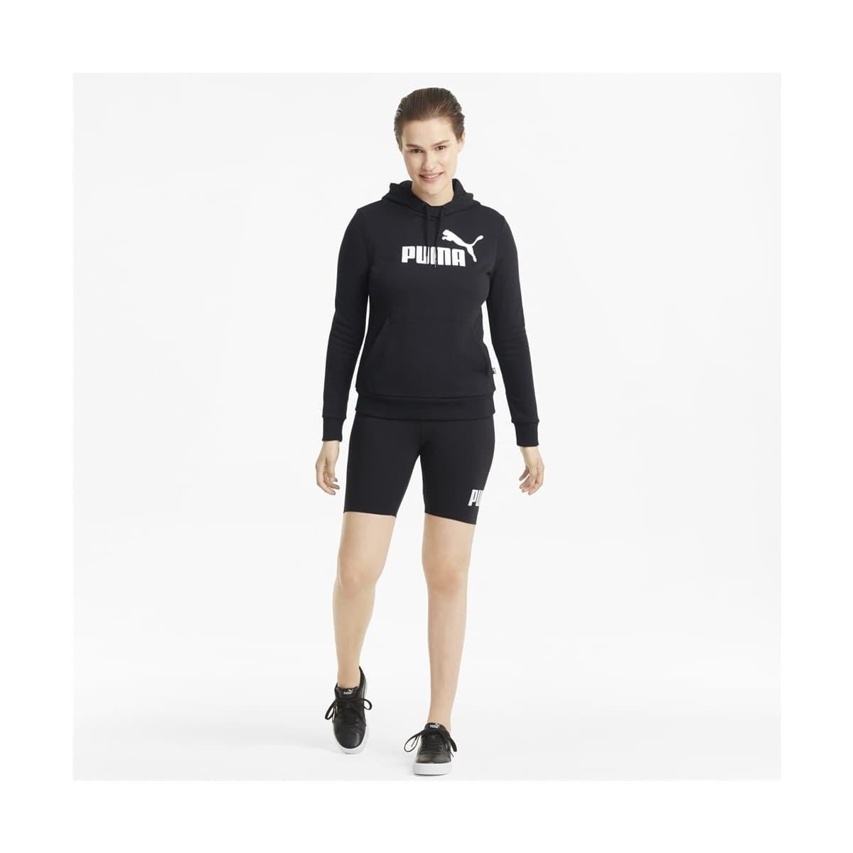 Essentials Logo Kadın Siyah Kapüşonlu Sweatshirt (586791-01)
