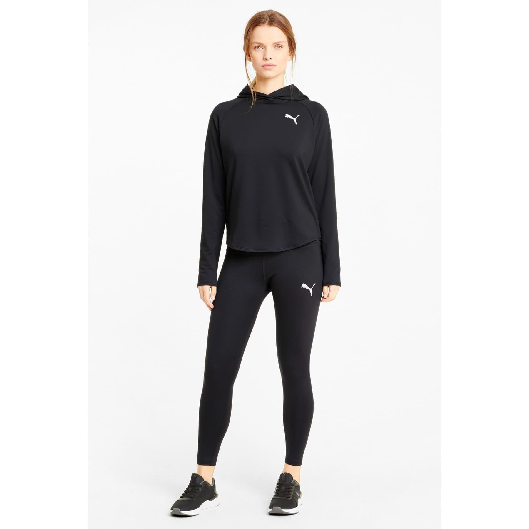 Active Kadın Siyah Kapüşonlu Sweatshirt (586858-01)