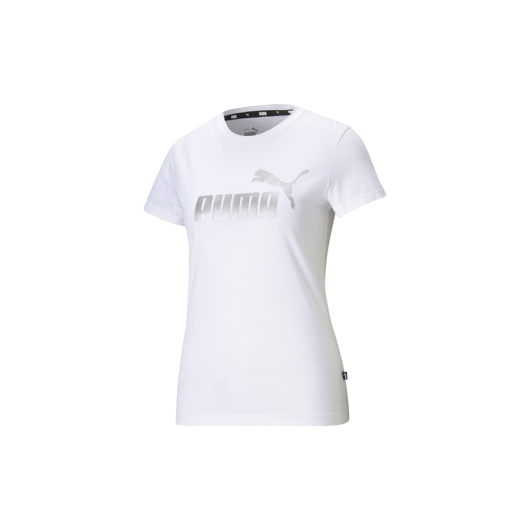 Essentials+ Metallic Kadın Beyaz Tişört (586890-02)