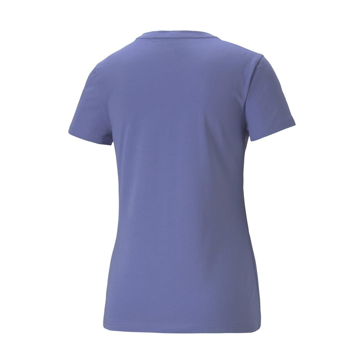 Essential Metallic Logo Kadın Mavi Tişört (586890-14)