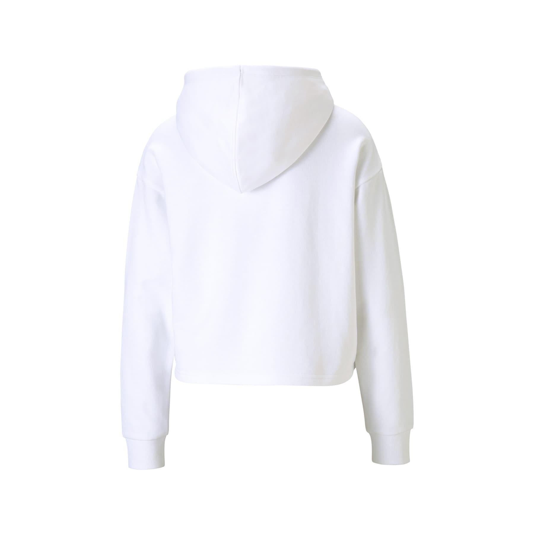 Essentials Cropped Kadın Beyaz Sweathirt (586892-02)