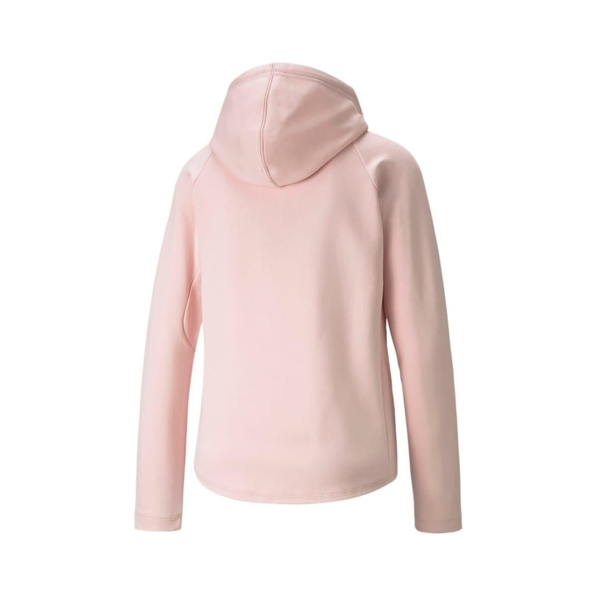 Evostripe Full-Zip Kadın Pembe Sweatshirt (589157-36)