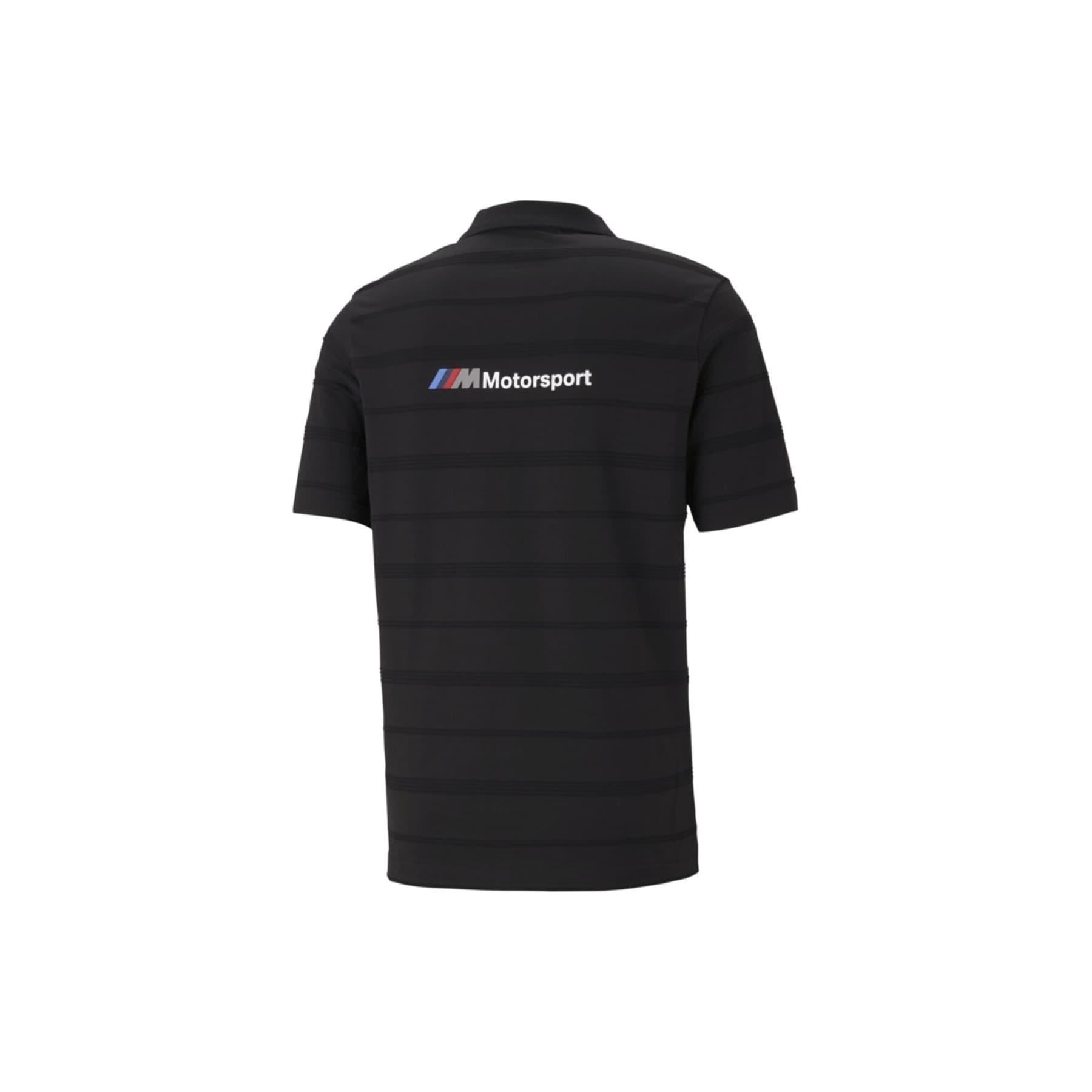 Bmw M Motorsport Striped Erkek Siyah Tişört (599524-01)