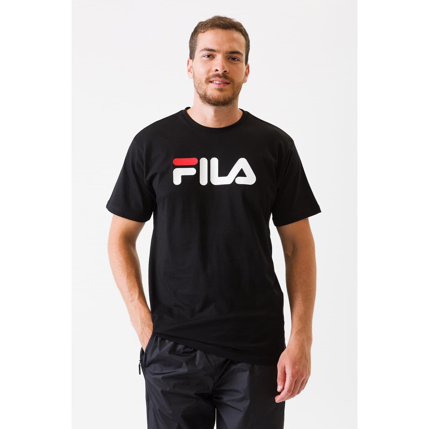Fila Classic Pure SS Erkek Siyah Tişört (681093_002)