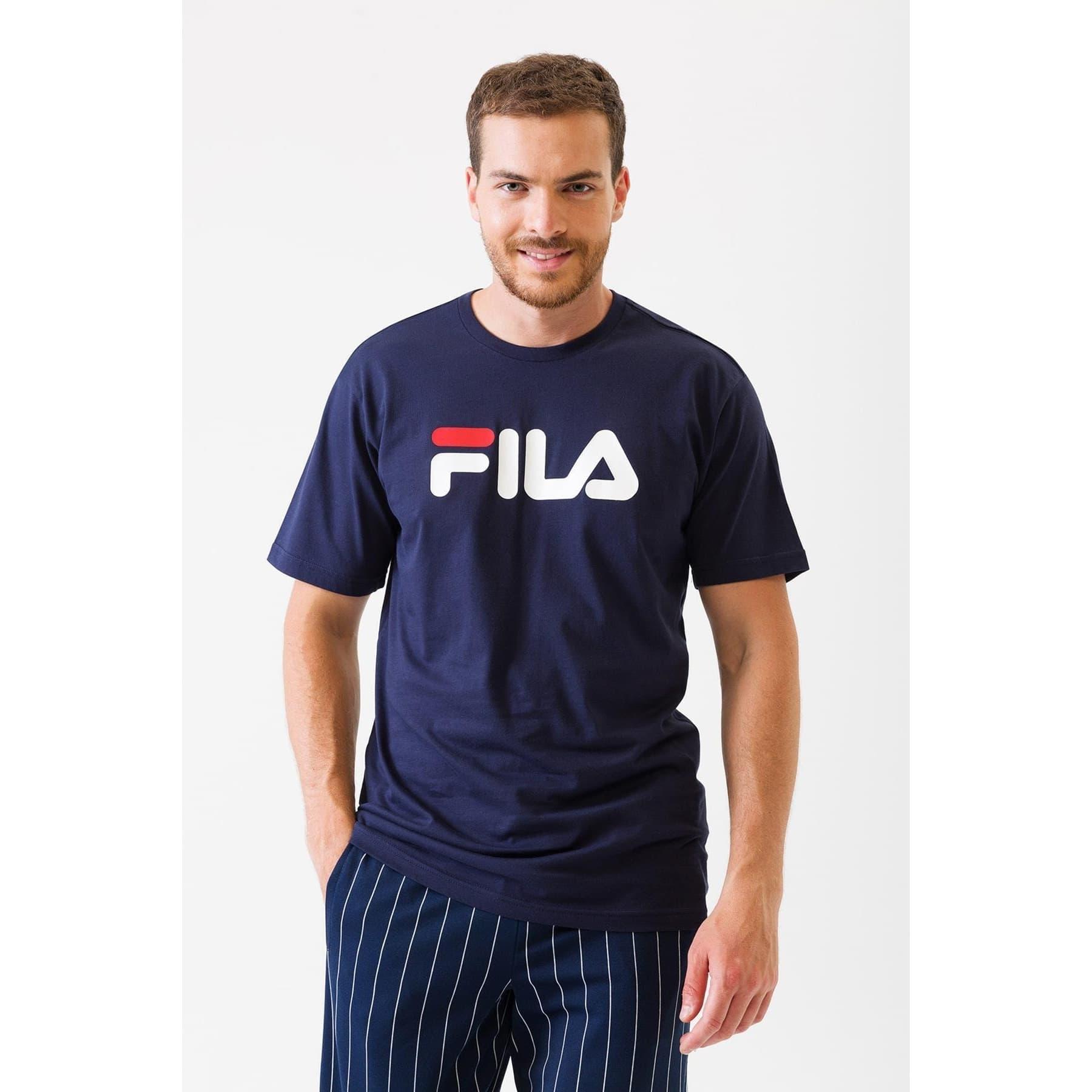 Fila Classic Pure SS Erkek Mavi Tişört (681093_170)