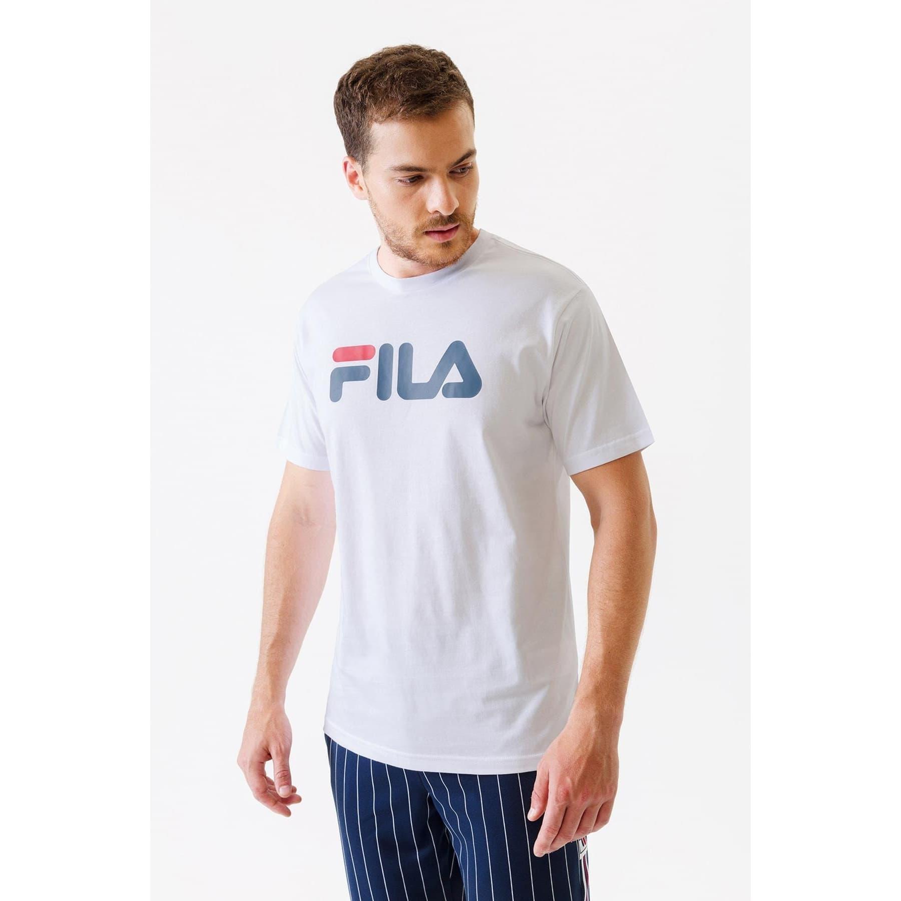 Fila Classic Pure SS Erkek Beyaz Tişört (681093_M67)