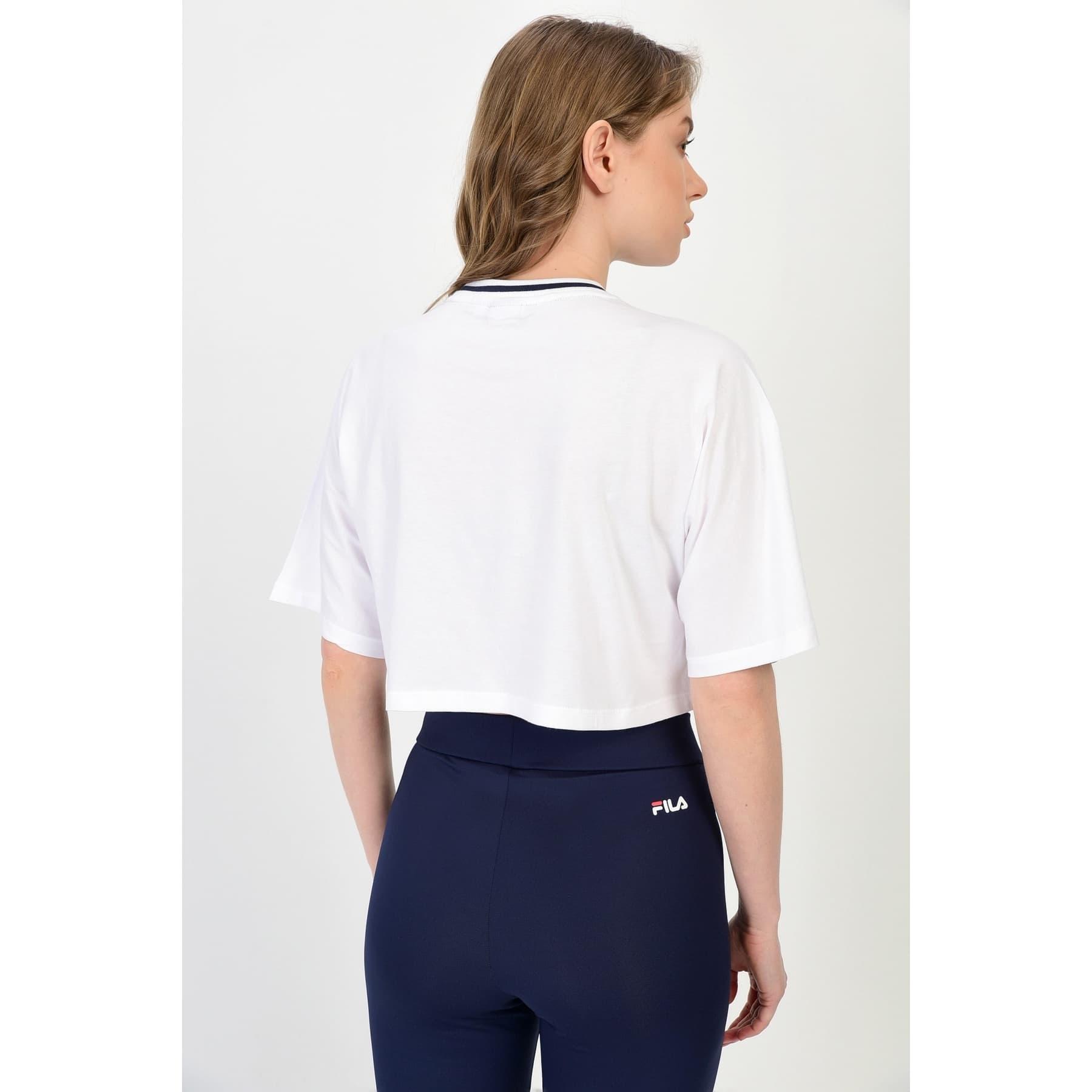 Barr Cropped Wide Kadın Beyaz Tişört (687497_M67)