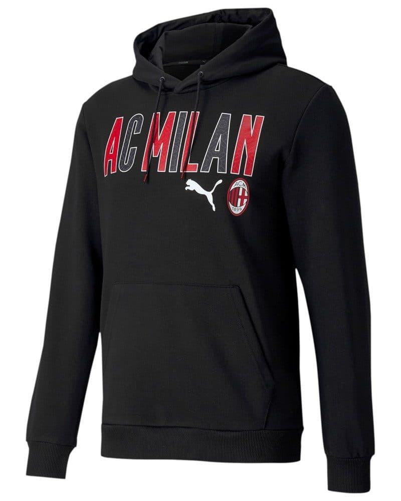 AC Milan Erkek Siyah Kapüşonlu Sweatshirt (FX7973)