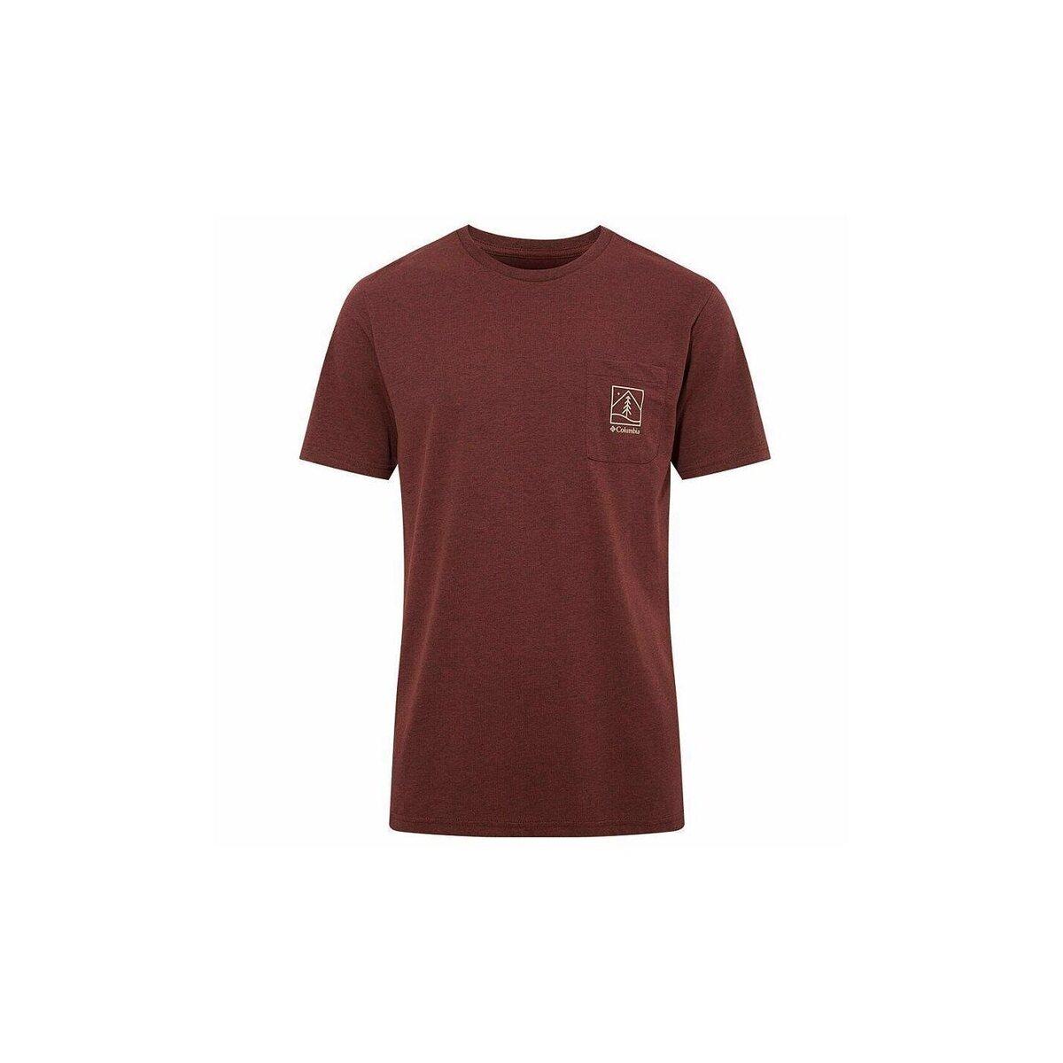 Icon Pocket Erkek Bordo Tişört