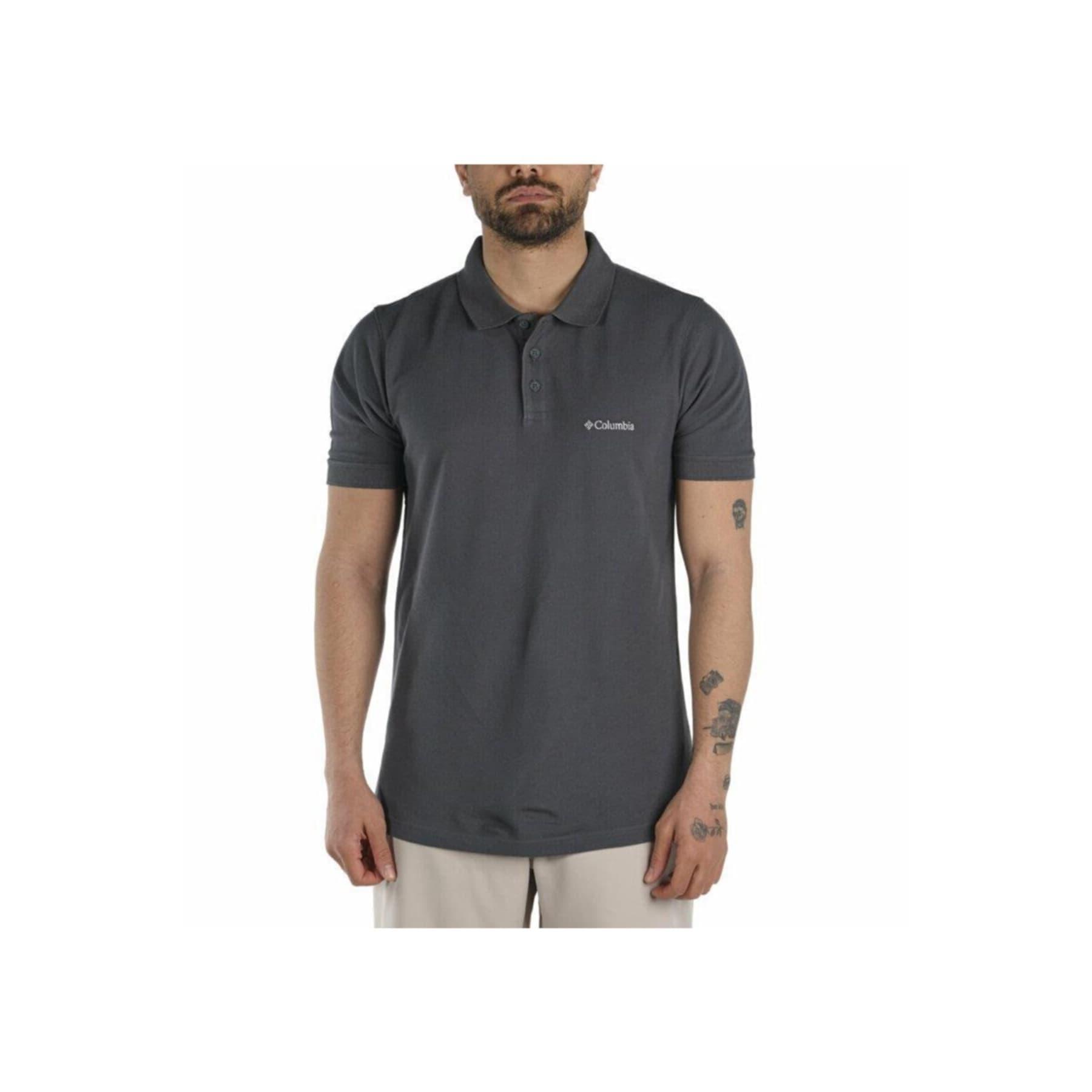 Cascade Range II Erkek Gri Polo Tişört (CS0214-011)