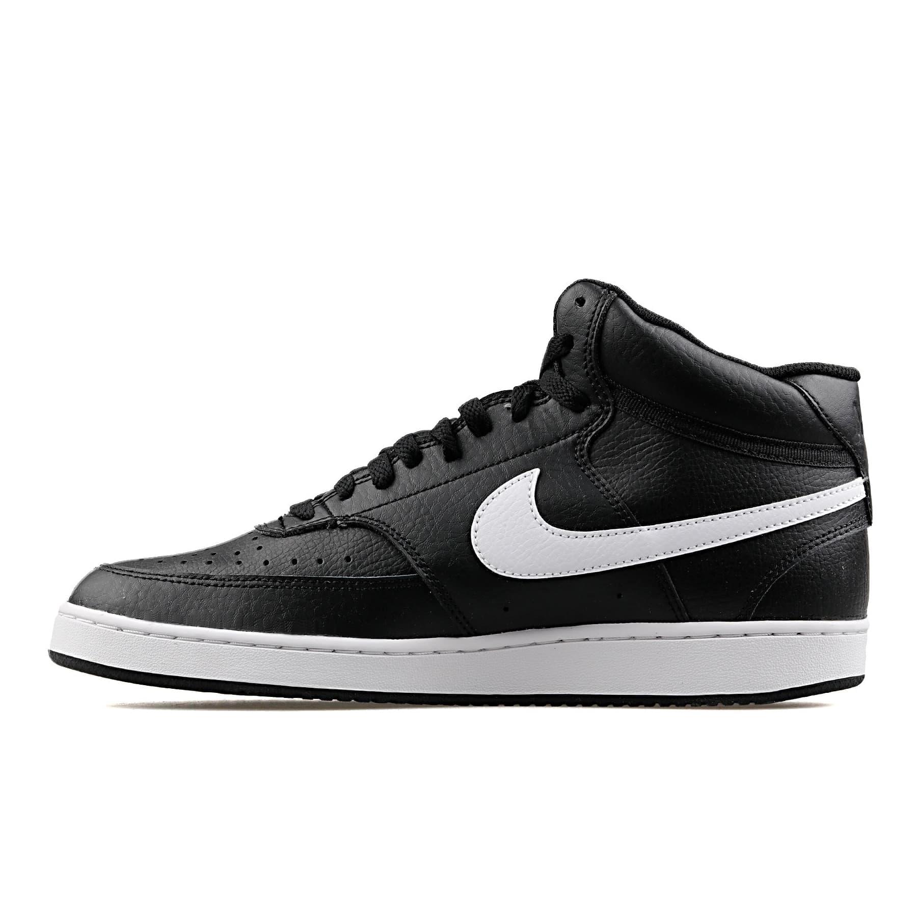 Court Vision Mid Erkek Siyah Basketbol Ayakkabısı