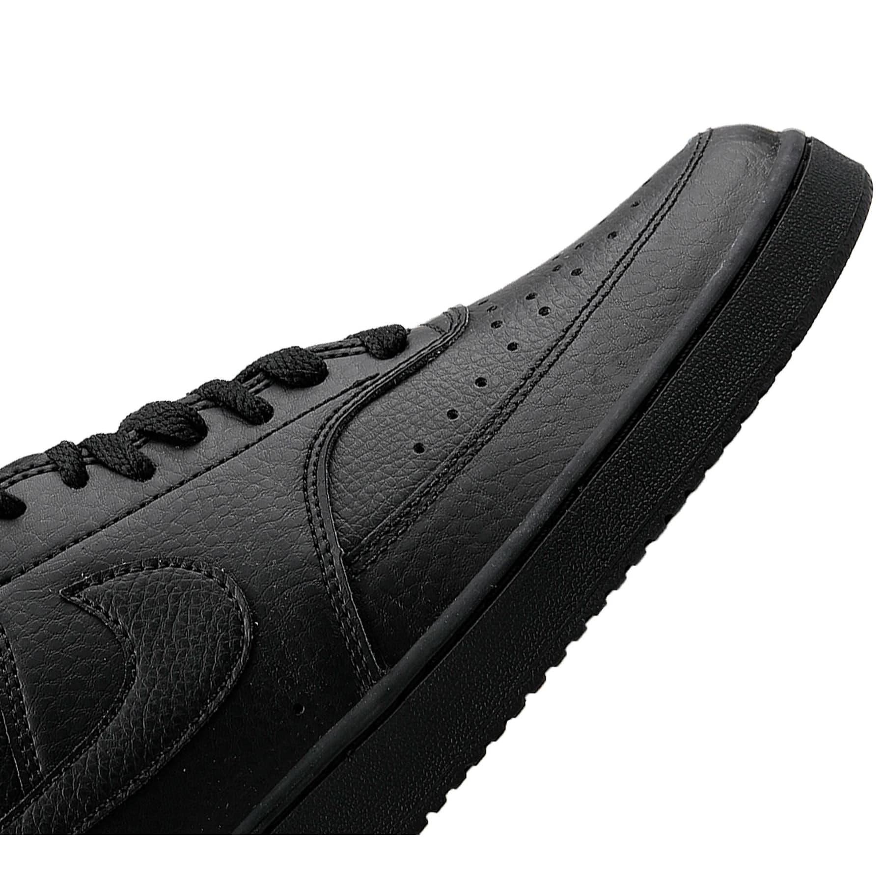 Court Vision Mid Erkek Siyah Sneaker