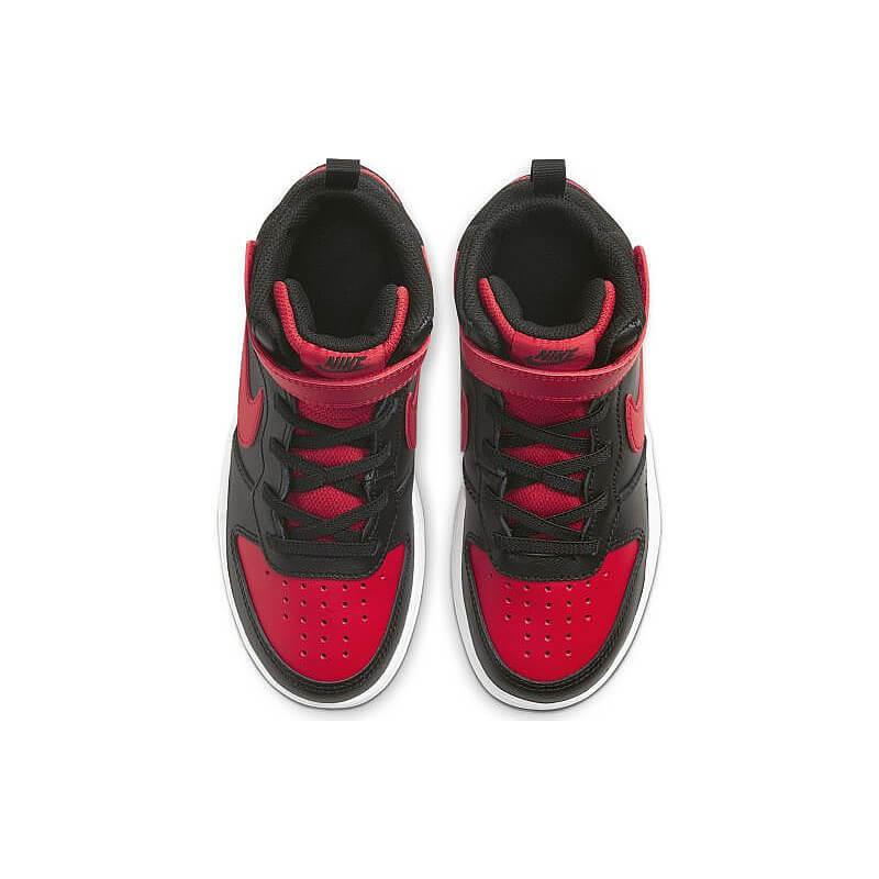Court Borough Mid 2 Çocuk Siyah Kırmızı Sneaker