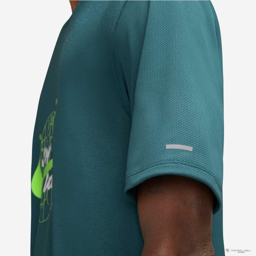 Dri-FIT Miler Wild Erkek Yeşil Koşu Tişörtü (DA0216-393)