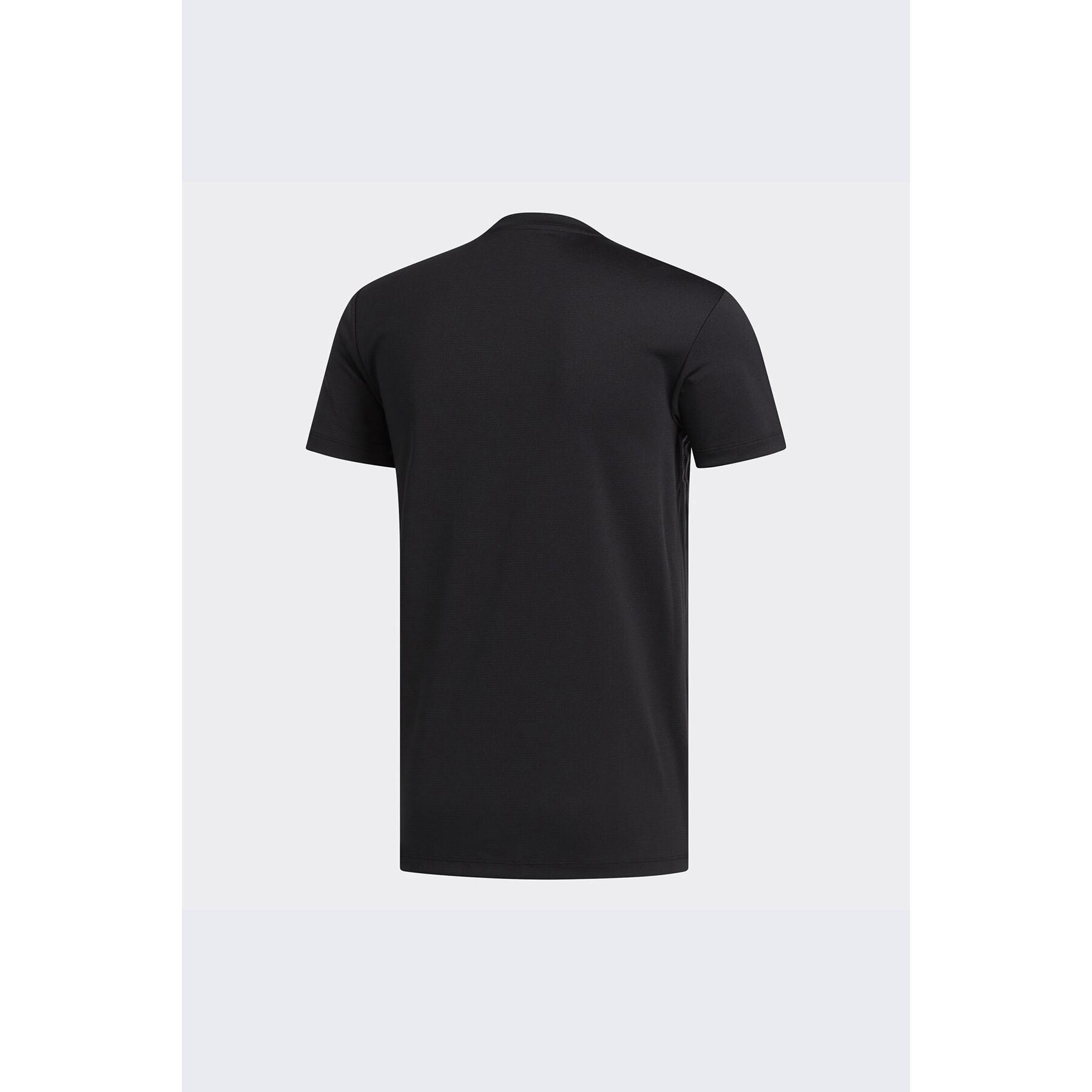 Aeroready 3-Stripes Erkek Siyah Antrenman Tişörtü