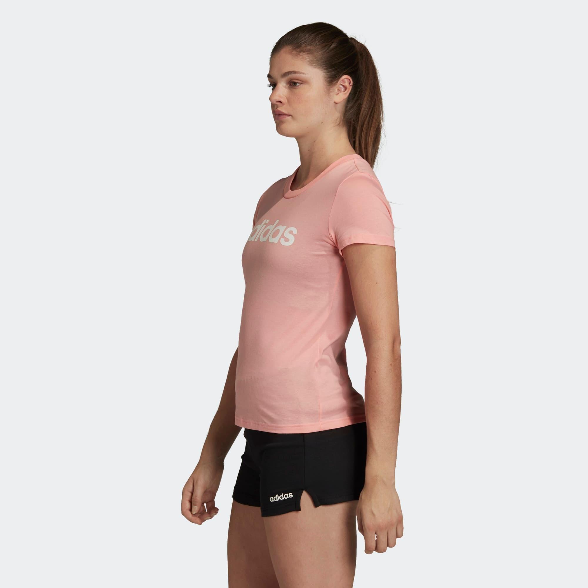 Essentials Linear Kadın Pembe Spor Tişört (fm6423)