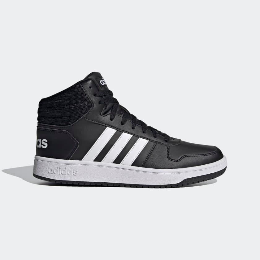 Hoops 2.0 Erkek Siyah Spor Ayakkabı (FY8618)