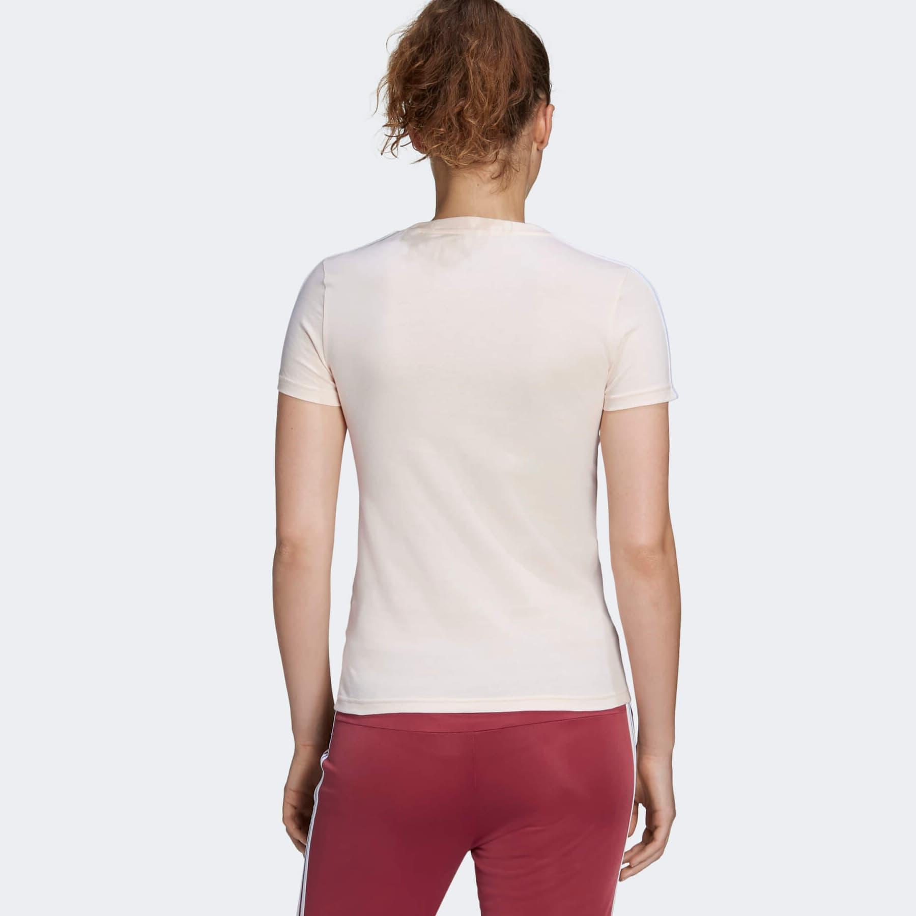 Essentials 3 Bantlı Kadın Pembe Spor Tişört