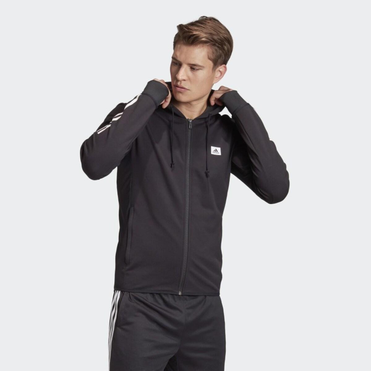 Designed to Move Motion Erkek Kapüşonlu Siyah Spor Üst