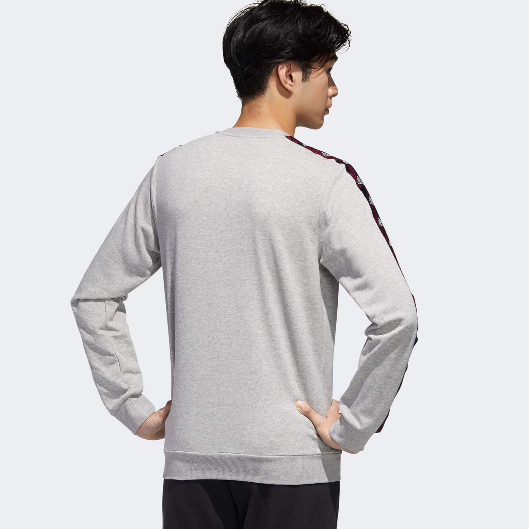 Essentials Tape Erkek Gri Sweatshirt