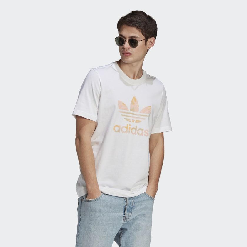 adidas Camo Trefoil Erkek Beyaz Tişört (GN1857)