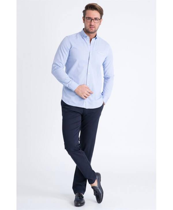 Lufian Robert Erkek Mavi Kanvas Pantolon
