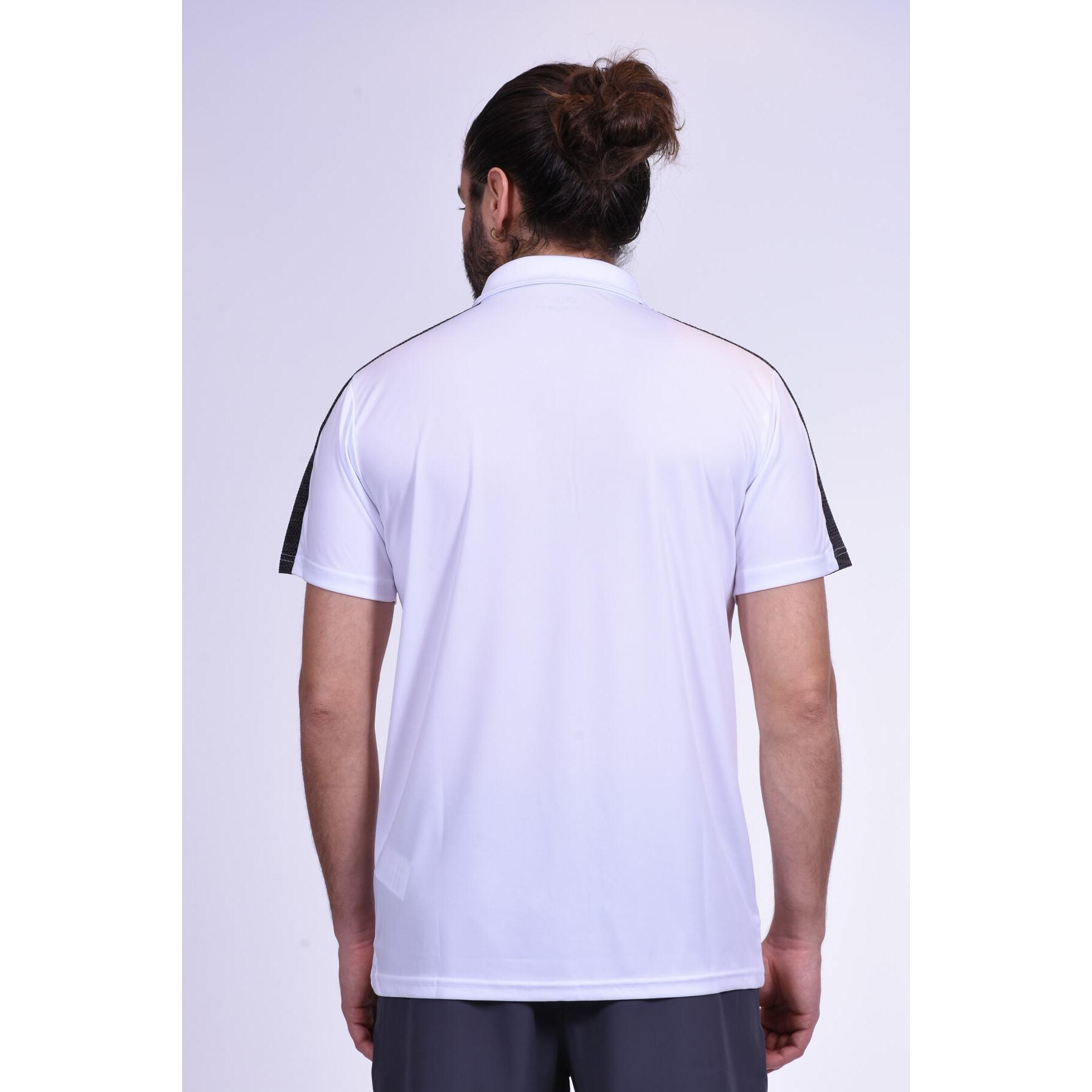 Twill Erkek Beyaz Polo Yaka Spor Tişört