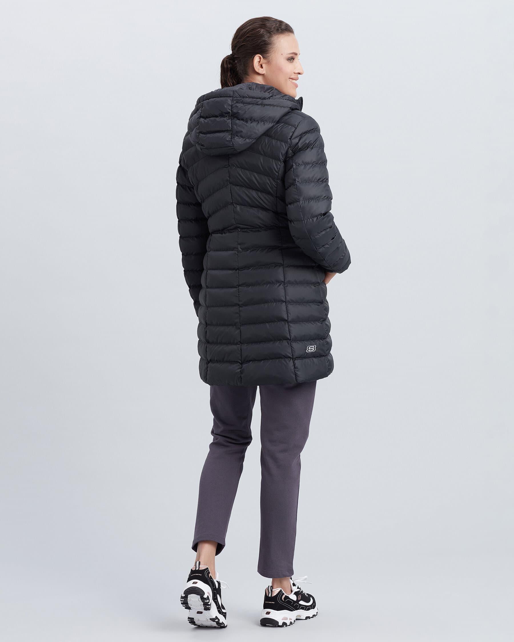 Essentil Kadın Siyah Uzun Boy Mont (S212262-620)