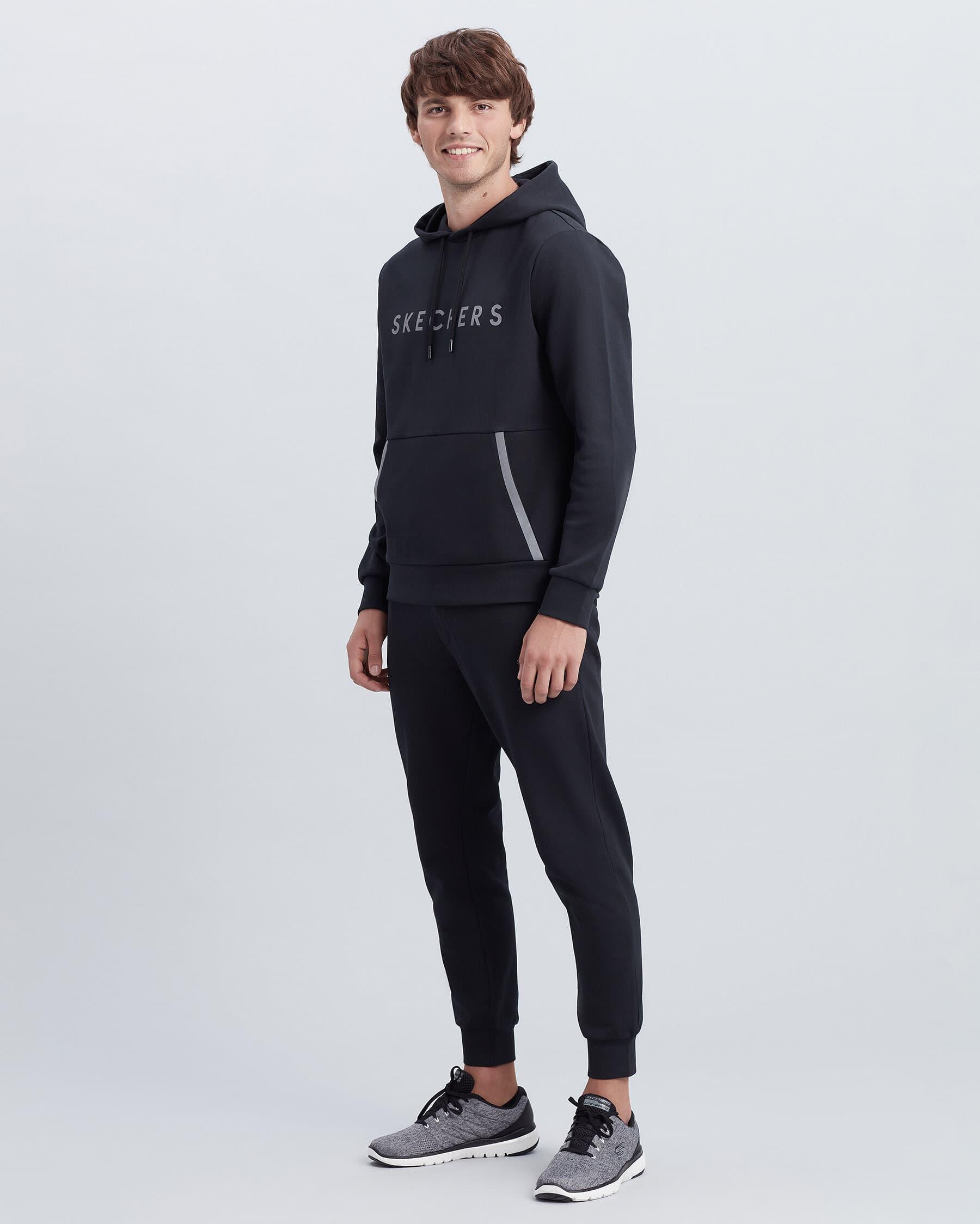 Flexi Erkek Siyah Kapüşonlu Sweatshirt (S212254-001)