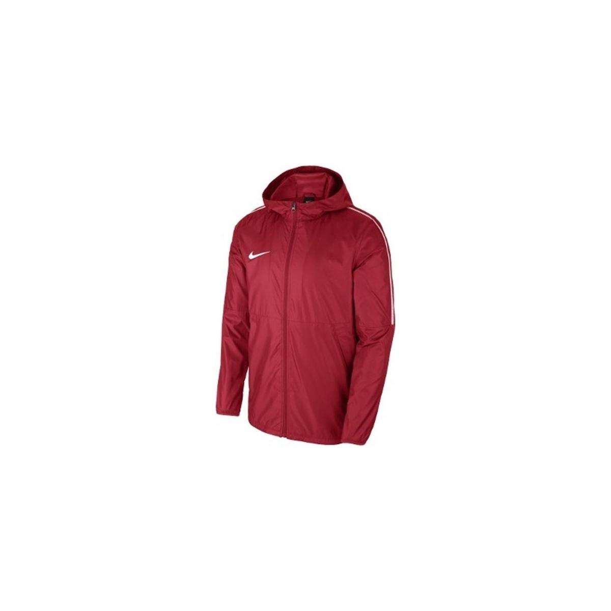 Dri-Fit Park 18 Erkek Kırmızı Yağmurluk (AA2090-657)