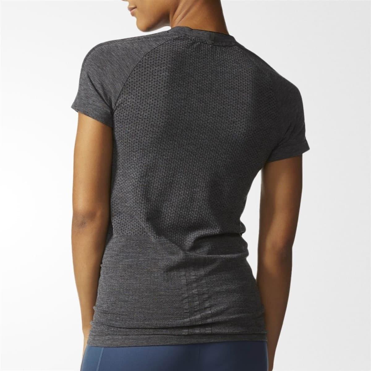 As Primeknit Kadın Siyah Tişört