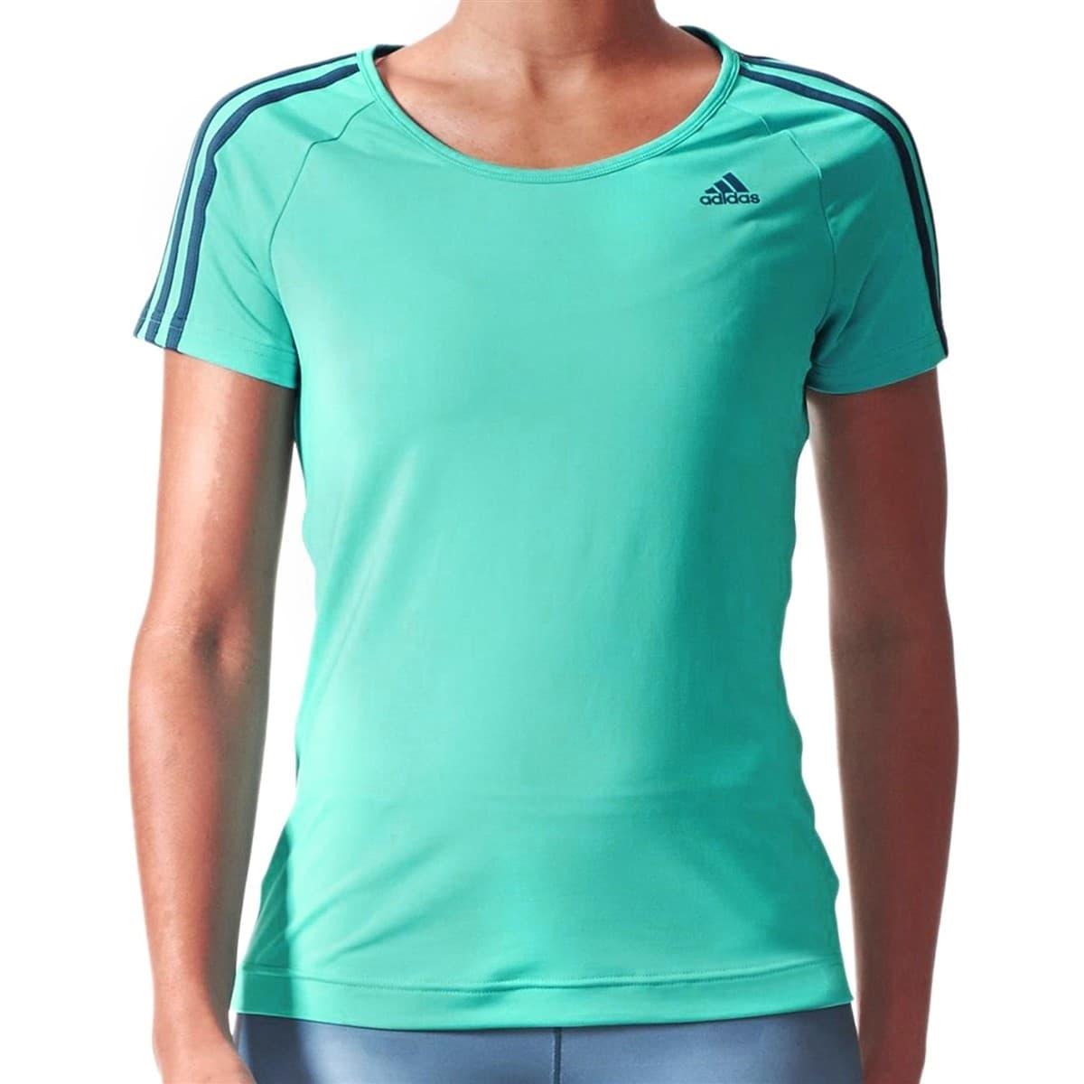 Basic 3S Kadın Antrenman Turkuaz Tişört