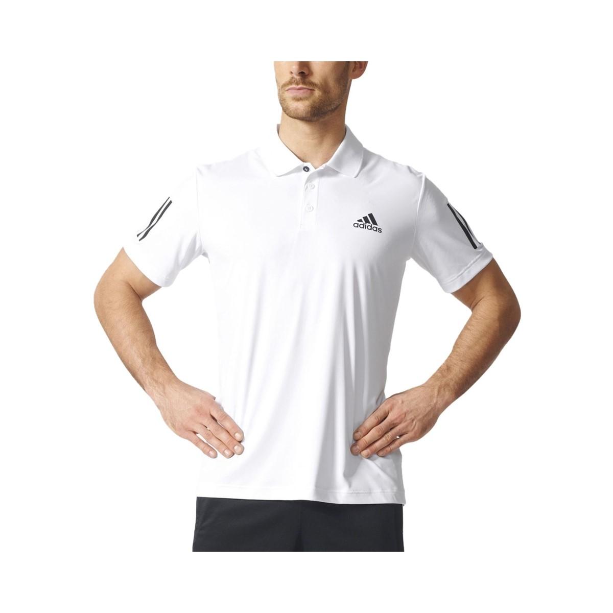 Club Polo Yaka Erkek Beyaz Tenis Tişörtü